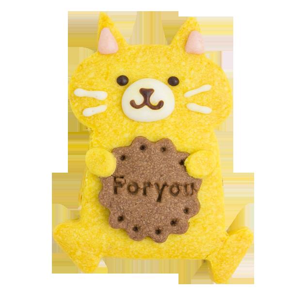 森の動物クッキー・ネコ